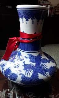 vintage vase double dragons