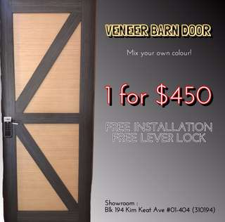 🚪Veneer Barn Door