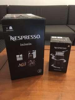 Nespresso inissia & aeroccino 3 coffee maker brand new