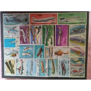 Stamps - planes/helicopters