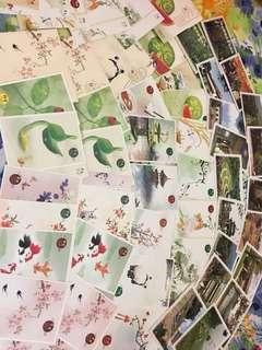 熊貓郵局 postcard 中山陵園 風光 明信片 共7疊