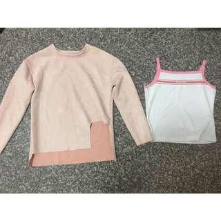 買一送一❤️麂皮粉色上衣.背心🎽#女裝半價