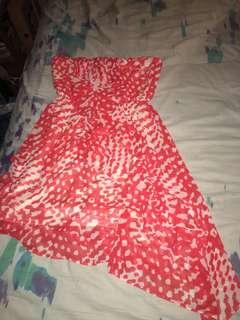 Strapless angular dress