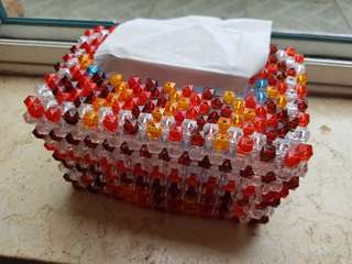 Handmade tissue box