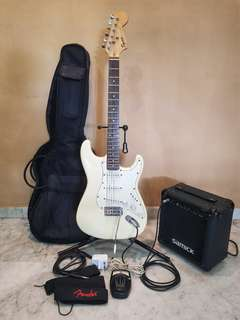 Fender Electric Guitar with Free Accessories!