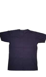 ✔dark blue short sleeve basic tee