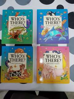 Who's There Touch & Lift series: 1) In the Jungle 2) Under the Sea  3) In the Wild  4) On the Farm