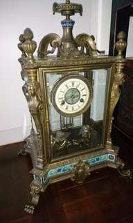 Vintage Bronze Mechanical Clock