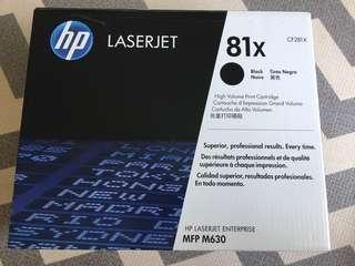 HP 81X BLACK HIGH YIELD LASERJET TONER CARTRIDGE CF281X