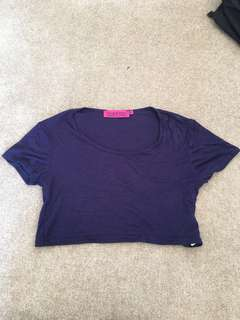 Boohoo dark blue/purple crop