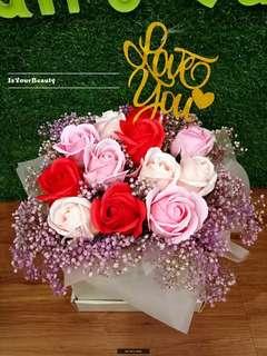 12 Pieces Roses Flower Soap Bouquet 💐