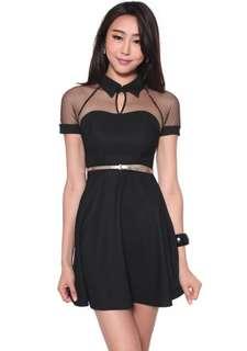 Size L Black Love Bonito Dixie Mesh Dress