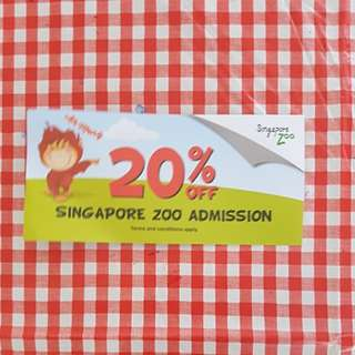 Singapore Zoo Ticket Voucher 20% off
