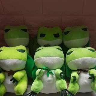 旅行青蛙系列玩偶(六隻)