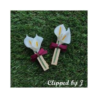 Handmade Hair Clip - Lily Bouquet 02