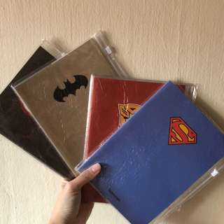 Super Hero Avenger notebook!!  With plastic cover and a ziplock area for stationery-- goodie bag item