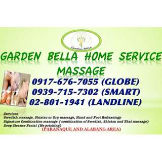 Home Service Massage BF Pque and Alabang Hills area