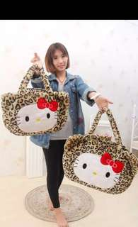 Hello kitty leopard bag