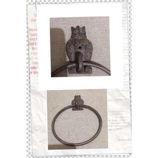 貓頭鷹 手巾架 * 鍛鐵製