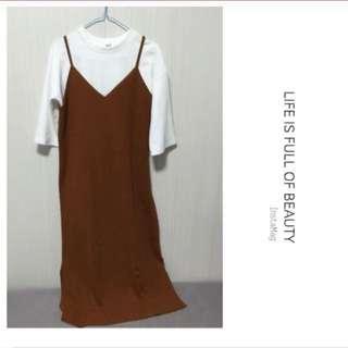啡色吊帶裙