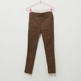 🚚 全新有實穿照/ 咖啡色顯瘦直筒褲