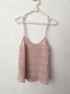 New look summer pink knit