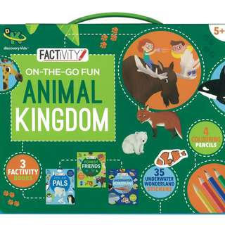 (Brand New)  Discovery Kids Factivity On-the-Go Fun Animal Kingdom