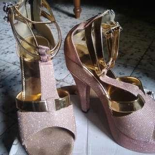 High heel peach