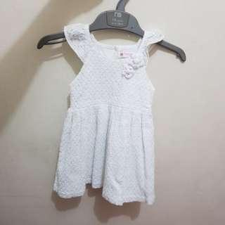 Peppermint 1t white dress
