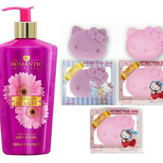 BunDle!! 250ml LotioN&3pcs hellokitty soaps