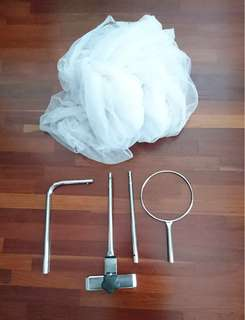 Mosquito net and stand for baby cot