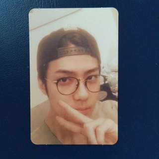 EXO SEHUN LUCKY ONE PHOTOCARD