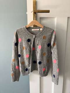 Country Road girls multi-coloured spit cardigan
