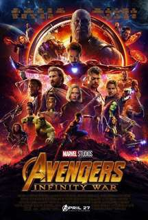 TGV movie tickets X2 (Avengers: Infinity War)