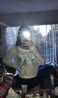 See through pattern shirt. Size M