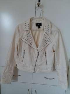 白色短身外套 Denim jacket