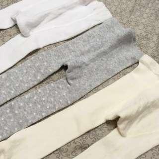 寶寶褲襪 9⃣️成新 三件一起售 再送一件包屁衣