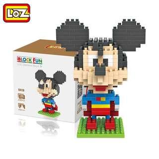 LOZ Diamond Blocks / Building Blocks / Nano Blocks - Superman Mickey Mouse