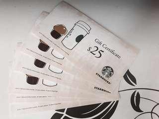 Starbucks Coupon 星巴克現金券 x 6 discounted price 優惠