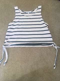 Striped crop in black and white