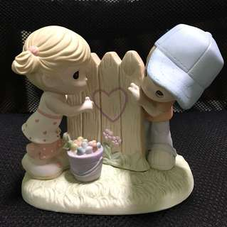 Precious Moments Figurine ( Sharing my heart with You)