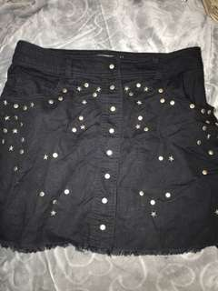 Black skirt with stars and dots. Size 10