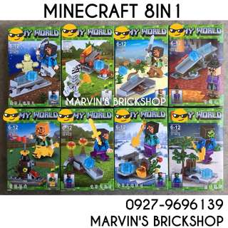 Latest MINECRAFT 8in1 Minifigures LELE 33118