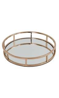 Brand New Gold OR Rose Gold Round Mirror Trays