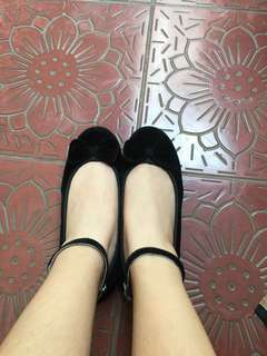 Valentina Black flatshoes