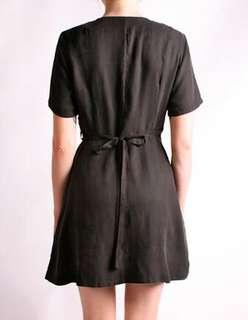Kinki Gerlinki black wrap dress
