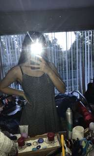 Black stripped dress. Size 10