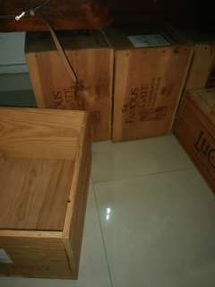 Wooden box for wine and stuff