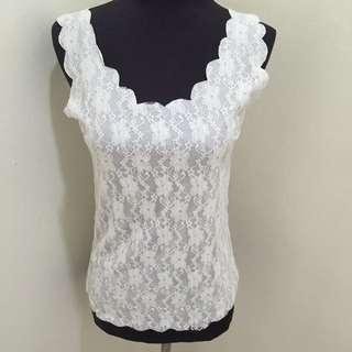 White Lace Sleeveless