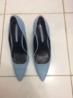 Zara light blue shoes